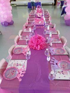Pink and Purple Princess Birthday Table Setting Disney Princess Birthday Party, Princess Theme Party, Birthday Party Themes, Birthday Celebration, Princess Party Centerpieces, Birthday Table, 13th Birthday, Birthday Ideas, Royal Party