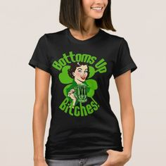 Beer Bottoms Up Beyotches!patricks day saints patricks day treats saints patricks day outfits womens tshirts womens tshirts with sayings women's tshirts leggings patricks day jewelry st patricks day pillows womens tshirts vintage St Patrick's Day Outfit, Outfit Of The Day, Homemade Face Paints, St Patrick Day Treats, St Patrick's Day Gifts, Donna Dewberry, St Patricks Day, Saint Patricks, Wardrobe Staples