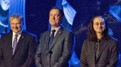 Alex Lifeson, left, Neil Peart, centre, and Geddy Lee of the band Rush, seen here in 2010, have been nominated for the Rock and Roll Hall of Fame.