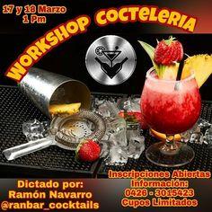 A T E N C I O N .!!! Si deseas iniciar en el mundo de la Cocteleria y la barra no te pierdas este excelente Workshop de Cocteleria para que aprendas a preparar la mejor Cocteleria Internacional!! Te esperamos.!!! Información al 0426-3015423 Inscripciones Abiertas.!! #ranbarcocktails #cocktails #cocteles #formacion #taller #workshopranbar #bar #bqrra #barramovil #bartender #barman #zulia #cabimas #cabimascity #venezuela #vzla #maracaibo #bartending #barman