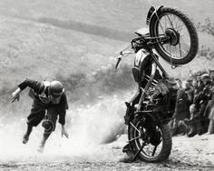 Motorcycle Accident Vintage 8x10 Reprint Of Old Photo