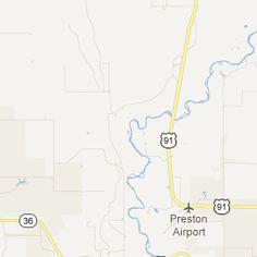 Napoleon Dynamite Map of Preston Idaho