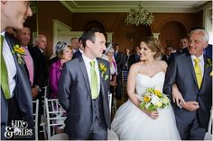 Bride smiles at Groom Taitlands Wedding photography | Tux & Tales Photography of York