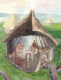 James Cope - Neolithic House an Art imagination of their homes. Neolithic Period was roughly 3500BC-2500BC.