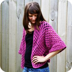 Granny Shrug~would be nice during pregnancy; great in Spring/Summer if made with linen yarn