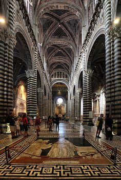 the duomo (cathedral): Sienna, Italy...this was the one we could not get into (cause it was the Palio horse race that day), but it's floor is the most amazing for inlay, from all the duomos we visited in Umbria