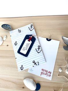 Glückwünsche, heiter bis glücklich, Meersüchtig, Umschlag, Geburtstag, Karte, DIY, Anker, maritim, Segelboot, Creative Depot, Papier & Passion, Papier und Passion Creative Depot, Coasters, Passion, Paper, Sailboats, Serenity, Cards, Coaster