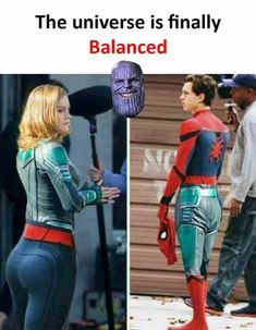 Captain Marvel and Spider-Man Most Hilarious Memes, Funny Marvel Memes, Marvel Jokes, Funny Memes, Marvel Dc, Captain Marvel, Taylor Swift Funny, Road Trip With Kids, Meme Pictures