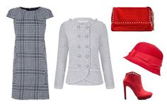 'Brit-style' con complementos en rojo, de @SUITEBLANCO y @ZARA