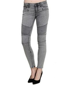 Buy Hit The Pavement Acid Wash Moto Skinny Jean Women's Bottoms from DITTO'S. Find DITTO'S fashions & more at DrJays.com