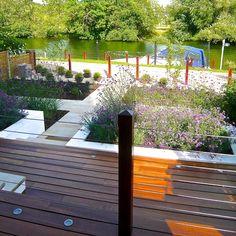 Landscape and Garden Designer Oxfordshire - Joanne Alderson Design Riverside Garden, Raised Beds, Portfolio Design, Minimalism, Grass, Garden Design, My Design, Designers, Deck