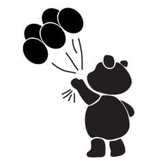 Wall Stencil for Kids 45 bear with balloons