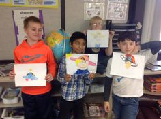 Three members of the Not Perfect Hat Club in Laura Estlund's class show off their not perfect hat.