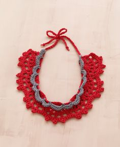 Free+Crochet+Jewelry+Patterns | Free Crochet Pattern L10200 Lace Crochet Necklace : Lion Brand Yarn ...