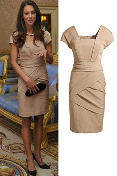 Cheap work dress, Buy Quality kate middleton dress directly from China dress fashion women Suppliers: 2015 New Summer Fashion Same Style Princess Kate Middleton Dress Women Temperament Slim Celebrity Work Dress Looks Kate Middleton, Kate Middleton Dress, Kate Dress, New Dress, Silk Dress, Vestidos Kate Middleton, Duchesse Kate, Reiss Dresses, Women's Dresses