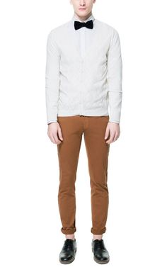Image 1 of OPEN WORK KNITTED CARDIGAN from Zara