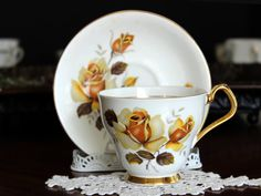 Cup and Saucer Royal Imperial Vintage Teacups by TheVintageTeacup