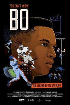 Henry Jones, Bo Jackson, Film Poster, Movie Posters, Documentaries, Animation, Raiders, Football, Illustration
