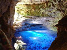 Poço Encantado, or Enchanted Well, is located in the Chapada Diamantina