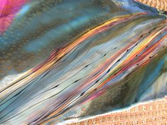 Layers of texture and flow. Hand painted silk. www.stonewellstudio.com