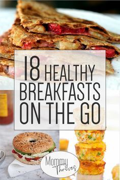 18 Quick Healthy Breakfast Recipes Easy Make Ahead Breakfast Recipes On The Go Breakfasts That Are Healthy 18 Healthy Breakfasts On The Go Source by twocametrue Healthy Breakfast On The Go, Healthy Breakfast Recipes, Healthy Drinks, Healthy Breakfasts, Quick Easy Breakfast, Breakfast To Go, Healthy Dishes, Quick Healthy Snacks, Breakfast Cookies
