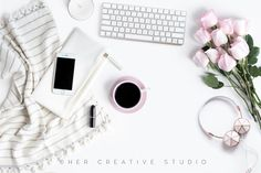 Styled Stock Image | Iphone & Throw by Her Creative Studio on @creativemarket