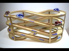 DIY Magic track with magic cars out of cardboard Track infinity from cardboard - YouTube