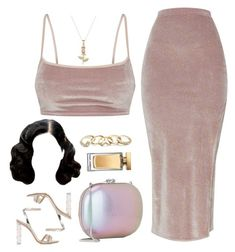 """""""Sabrina Claudio - Tell Me"""" by cheerstostyle ❤ liked on Polyvore featuring GUESS, Gianvito Rossi, Jeffrey Levinson and Dolce&Gabbana"""