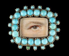 Turquoise Lover's Eye Brooch the Skier Collection Turquoise Eyes, Turquoise Jewelry, Turquoise Bracelet, Birmingham Museum Of Art, Antique Jewelry, Vintage Jewelry, Lovers Eyes, Art Premier, Miniature Portraits