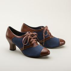 Evelyn Retro Oxfords by Royal Vintage (Navy/Brown)
