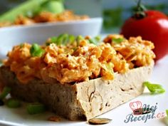 Tvarůžková pomazánka Slovak Recipes, Tzatziki, Lchf, Baked Potato, Mashed Potatoes, Baking, Ethnic Recipes, Food, Whipped Potatoes