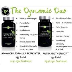 Dynamic duo itworks thermofit and fat fighters check out my website http://wrapsbygloria.itworksca.com/
