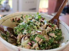 "Italian Tuna Salad (Sisters and Cousins) - Giada De Laurentiis, ""Giada in Italy"" on the Food Network."