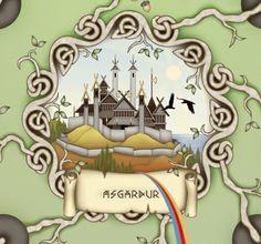 Ásgarður is the country or capital city of the Gods.