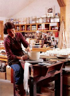 White forest pottery