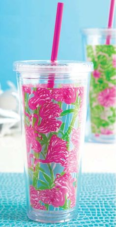 Lilly Pulitzer / Lifeguard Press Tumbler with Straw