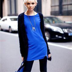 2012 Fall New Arrivals Side Zipper All-match Long Sleeve One-piece Dress