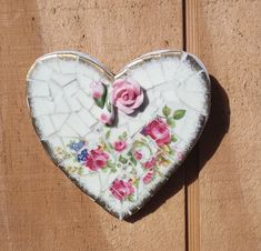 We are the owners of Sweet Dreams Apartment and Piece by Piece Mosaics. Mosaic Ideas, Hobbies And Crafts, Tile, Hearts, China, Jewellery, 3d, Inspiration, Vintage
