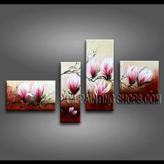 Gorgeous art painting on canvas. It is very nicely done oil painting Tulip Flowers in Contemporary style. Panel Wall Art, Canvas Wall Art, Multi Canvas Painting, Contemporary Wall Art, Arte Floral, Flower Art, Bed Room, Art Oil, Hand Painted