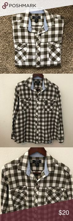 Crooks & Castles Button Down Forest green, white, and purple plaid button down from Crooks & Castles. 2 pockets, long sleeve, size large. Crooks & Castles Shirts Casual Button Down Shirts