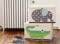 "Promising review: ""I'm impressed. I have a 1-year-old who has a ton of toys (blocks, cars, stuffed animals, and all) and I planned to get him a traditional plastic or wooden toy box. They are SO expensive though and I wasn't ready to drop over $100 on a toy box. I found this and read reviews about its sturdiness and decided at the price, I could definitely give it a shot. It's REALLY sturdy. My son is 32 lbs. and 33"" tall. He went head first into the toy box (he was fine, fell on fluffy…"