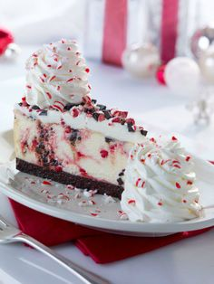 Peppermint Bark Cheesecake from Cheesecake Factory.  DELISH!