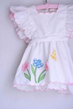Vintage girls dress nannette pinafore 2/3T by fuzzymama on Etsy, $12.00