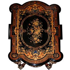 A fabulous example of the American Renaissance Revival Period, this table of incomparable style and quality by Herter Brothers, was bought directly from the Frederick William Vanderbilt Estate in Hyde Park, New York. Fredrick was the grandson of Commodore Vanderbilt, founder of New York Central Railroad. In 1887, Cornelius II, the Commodore's grandson, purchased the table along with paintings and bronzes at a sale from the art patron Cornelia M. Stuart. Her magnificent house at Fifth Avenue…