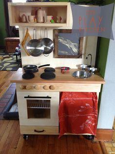 Homemade Kitchen From Entertainment Center | DIY Play Kitchen