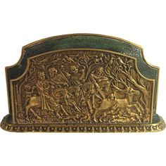 Max Le Verrier Bronze Letter Holder Hunting Scene Letter Holder, Antique Desk, Desk Accessories, Art Decor, Hunting, Scene, Bronze, Lettering, Antiques