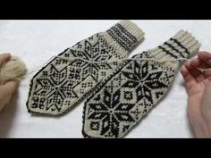 How to knit norwegian Selbu mittens. Step by step tutorial Knitted Mittens Pattern, Knitted Gloves, Knitted Blankets, Knitting Socks, How To Knit Mittens, Free Knitting, Norwegian Knitting, Knitting Machine Patterns, Knitting Projects
