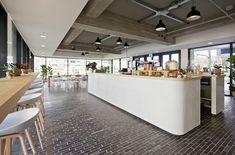 Huis van Portaal Head office by Concern, Utrecht Netherlands office design Bistro Interior, Restaurant Interior Design, Commercial Interior Design, Office Interior Design, Commercial Interiors, Corporate Interiors, Office Interiors, Corporate Offices, Visual Merchandising