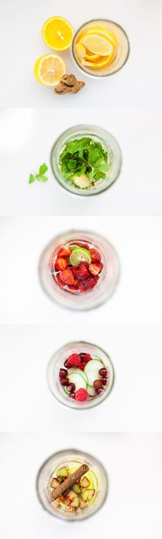 Try these 5 fruit & herb infused detox waters. You will be surprised at how energized & refreshed they will make you well. Plus, they are so easy to make!