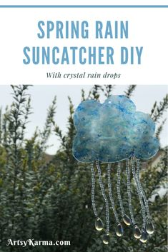 crystal rain cloud sun catcher